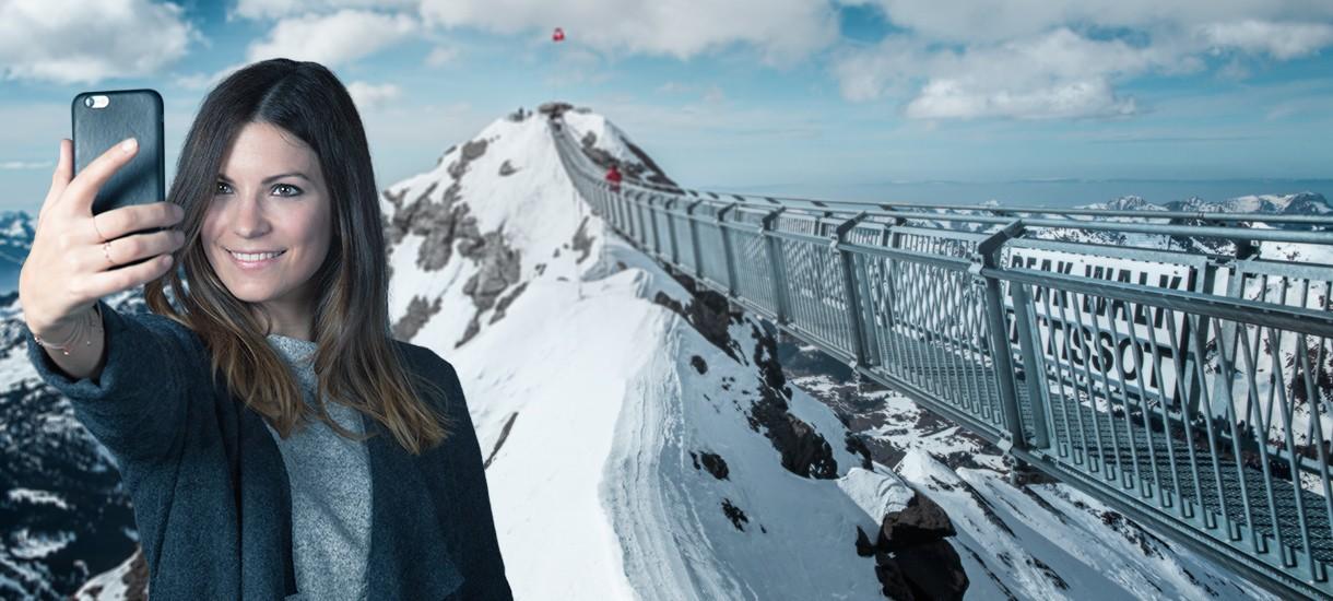 Best Selfie at Glacier 3000